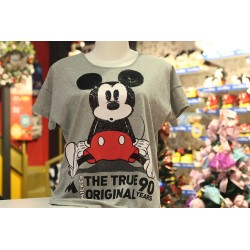 Blusa com Mangas e Lantejoulas The True Original Mickey - 90th Years Limited Edition
