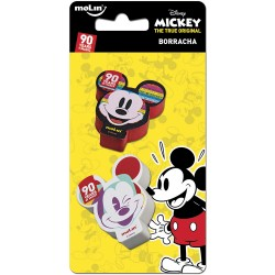 Borracha Mickey Carinhas Disney - Kit com 2 unidades - 90th Years Limited Edition