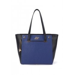 Bolsa Shopper Mickey 2 Faces Preto/Azul