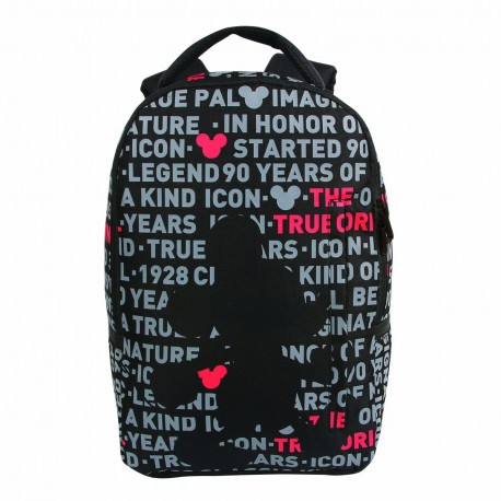 Mochila Costas Acolchoadas Mickey Black Shadow - 90th Years Limited Edition