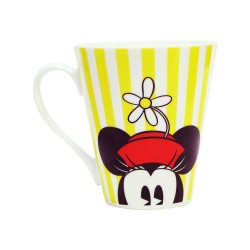 Caneca Mickey e Minnie Yellow Stripes