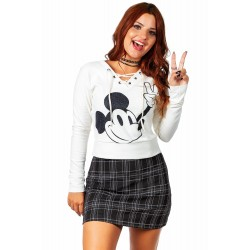 Blusão Peace and Love Mickey