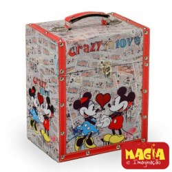Porta Joias Minnie e Mickey Crazy in Love Disney