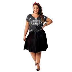 Blusa Mickey and Minnie Heads - Moda Plus Size