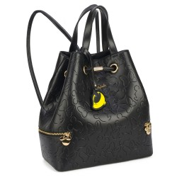 Bolsa Saco Minnie Low Relief Preto