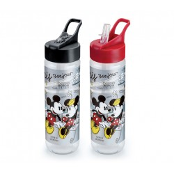Garrafa Tritan 700mL Fliptop Paris Mickey e Minnie Disney