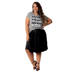 Blusa Mickey Be Yourself - Moda Plus Size
