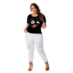 Blusa Mickey in My Heart – Moda Plus Size