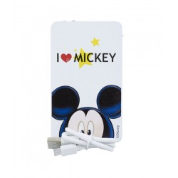 Powerbank Carregador Portátil Branco Mickey I Love 2200mAh - Disney