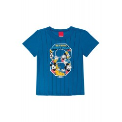 Camiseta Infantil Baseball Mickey Disney