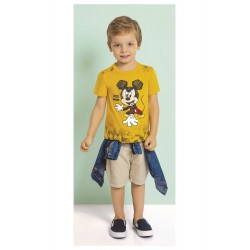 Camiseta Infantil Cartoon Mickey Disney