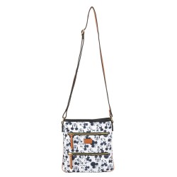 Bolsa Tiracolo Square Mickey Sketch Off White