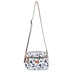 Bolsa Tiracolo Mickey Sketch Off White