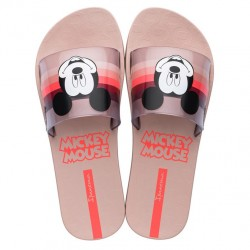 Chinelo Slide Ipanema Adulto Mickey Rose