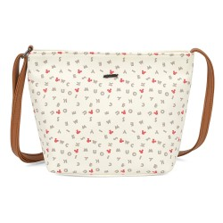 Bolsa Tiracolo Letter Soup Mickey Off White