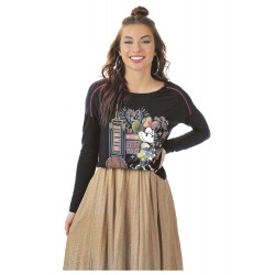 Blusa Manga Longa Feminino Minnie New York