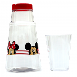 Moringa de Acrílico Mickey e Minnie Look 1200mL