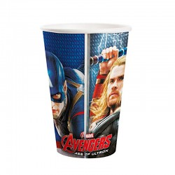 Copo Papel Avengers Animated 180ml - 08 unidades